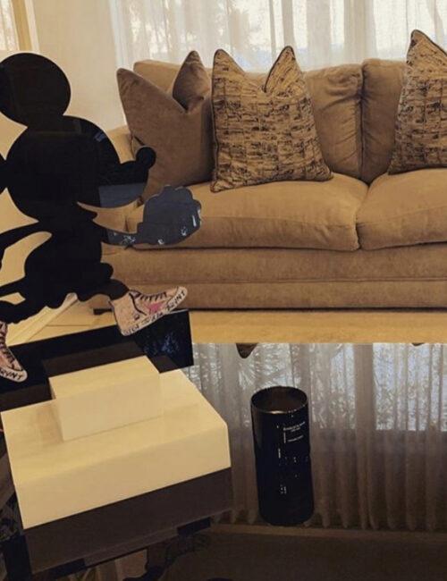 Mickey Sculpture custom sneakers